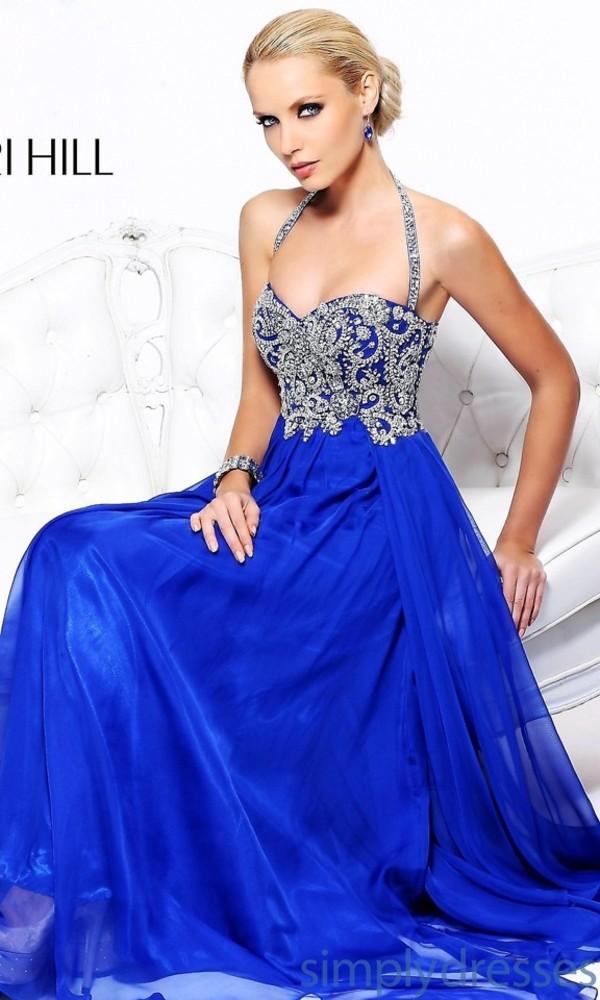 dress long dress blue prom dress prom dress