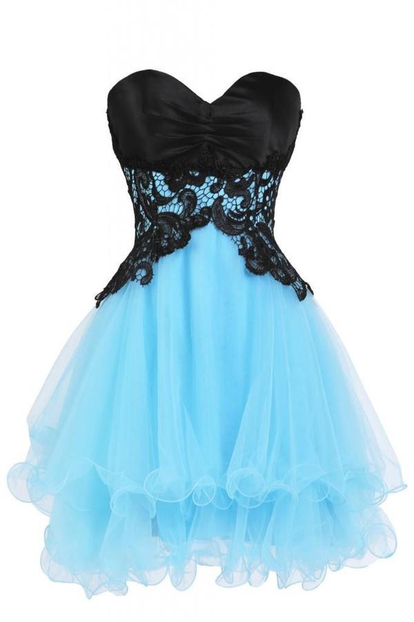 dress short homecoming dress blue dress party dress