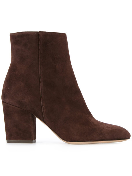 women classic ankle boots suede brown shoes