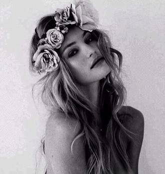hat floral headband