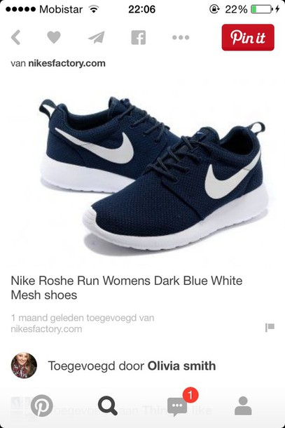 shoes blue nike roshe run navy nike nike roshe run shirt