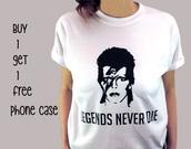 t-shirt,shirt,band t-shirt,white t-shirt,tumblr,tumblr shirt,fashion,David Bowie,pinterest,instagram,pink,stylish,streetstyle,streetwear,black,black and white