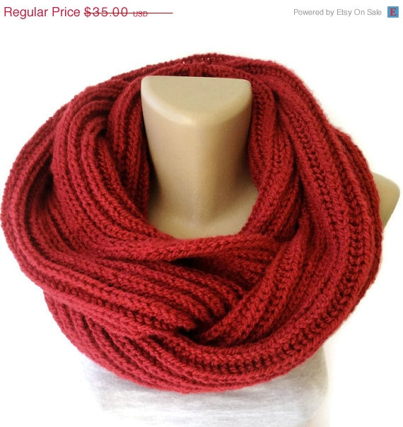 ON SALE infinity scarf  women men scarf winter by senoAccessory