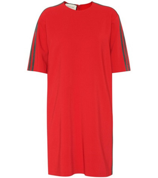 Gucci Stretch-cady minidress in red