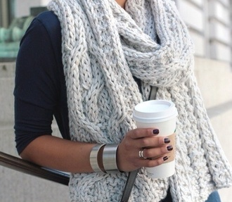 scarf grey wool scarf winter scarf grey scarf