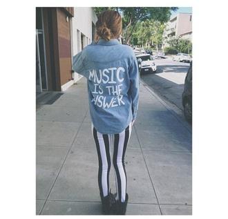 shirt acacia brinley shoes jacket grunge hippie music festival boho denim jacket quote on it denim shirt blouse blue letters