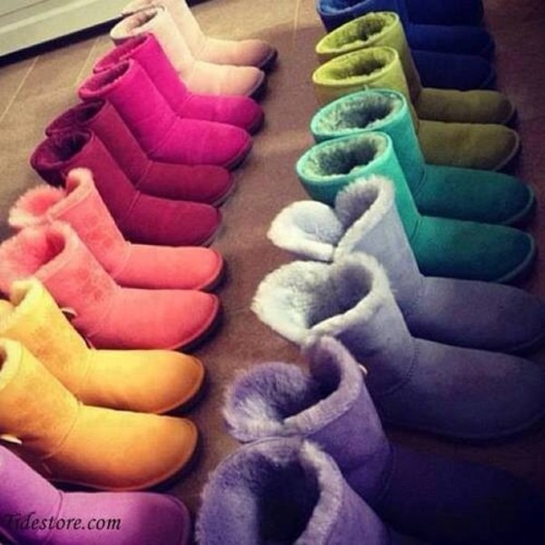 shoes colored boots