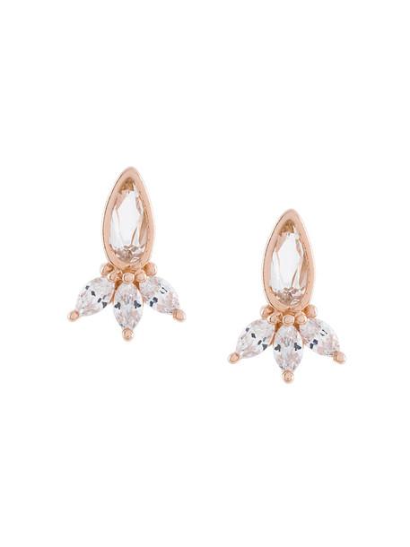 V Jewellery rose gold rose women earrings stud earrings gold silver white grey metallic jewels