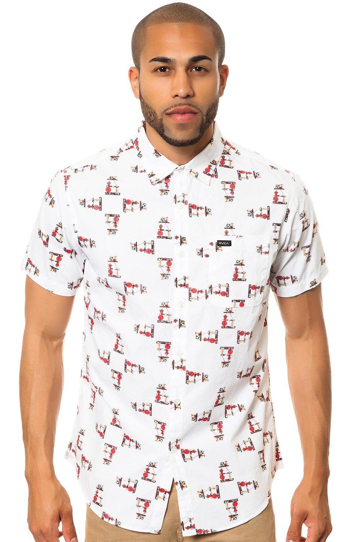 Amazon.com: rvca men's alsweiler shelf shirt vintage white x