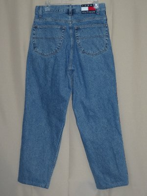 Vintage Size 32x32 32x29 Tommy Hilfiger Denim Jeans Logo Stripe Freedom Fit