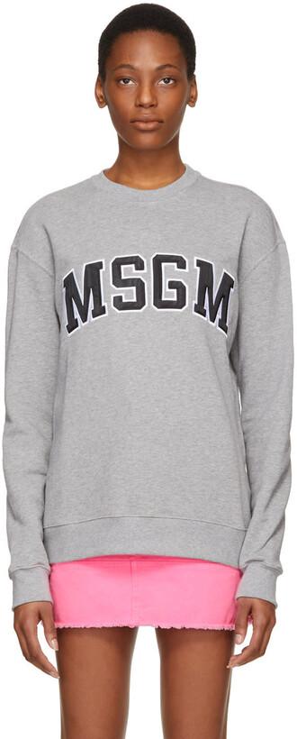 sweatshirt college grey sweater