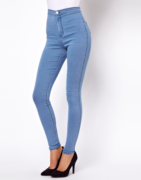 Blue High Waisted Pants