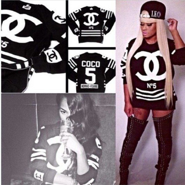 shirt blac chyna chanel chanel inspired