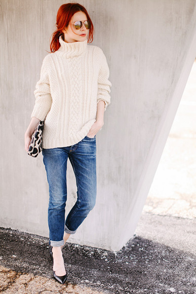 sea of shoes shoes sweater jeans bag