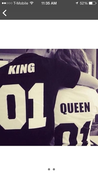 shirt couples shirts black t-shirt king and queen