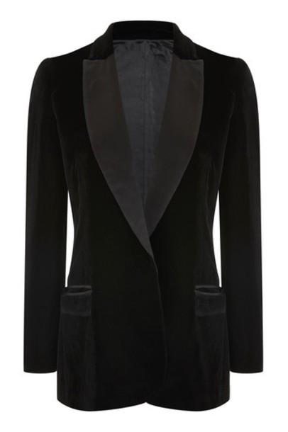 blazer black velvet jacket