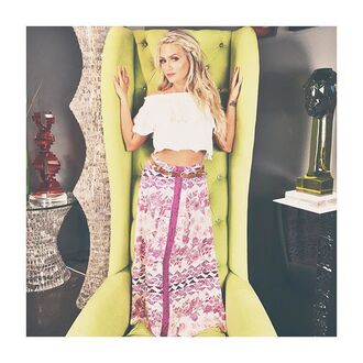 skirt free vibrationz pink skirt pink pink and white aztec aztec skirt boho bohemian bohemian skirt boho chic long skirt maxi skirt
