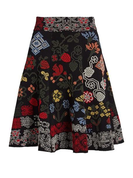 Alexander Mcqueen skirt cross black