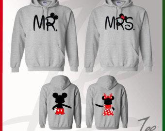 Matching Mickey Mouse Mr Minnie Mrs Hoodies Matching Disney