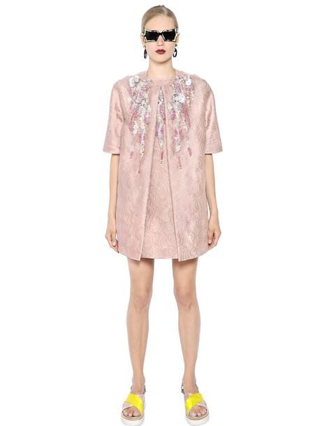 Antonio Marras coat jacquard embellished pink
