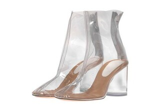 shoes transparent shoes pvc ankle boots clear margiela maison martin margiela