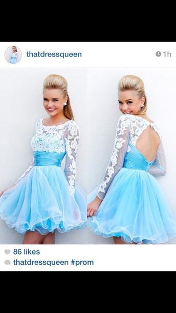 dress blue prom