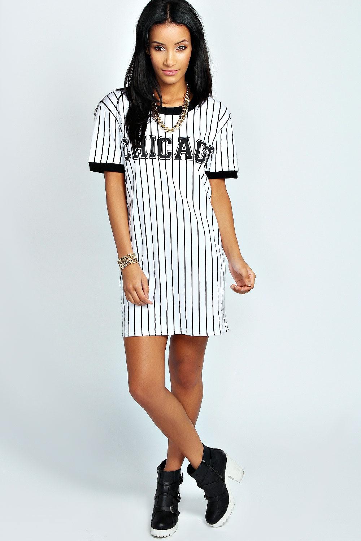 Rosie Striped Chicago T-Shirt Dress