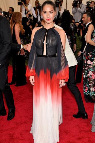 dress gown prom dress olivia munn met gala red carpet metgala2015