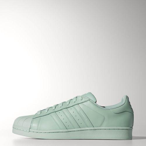 a878396547dfa Adidas Originals Pharrell Superstar Supercolor Amazon Green New Sz 12 US  S41834
