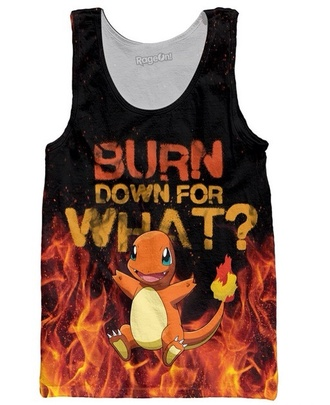 pokemon fire tank top top pokemons charmander pokemon charmander squirtle poem grey sweater t-shirt harry styles michael clifford cool