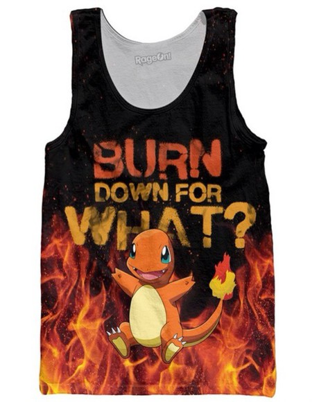 top tank top pokemon fire pokemon, tshirt, need, harry styles, michael clifford,  cool pokemon, charmander, squirtle, poem, grey sweatshirt, pokemons charmander pokemon