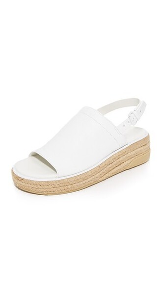 sandals leather white shoes