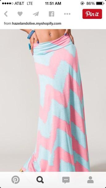 shirt blue and pink chevron skirtt skirt blue and pink chevron skirt pink tight off the shouldere