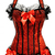 Burlesque Halter Underwired Boned Sparkle Corset Top Modety Panel Black Red | eBay