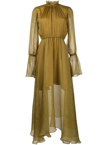 Beaufille dress maxi dress maxi chiffon women silk yellow orange
