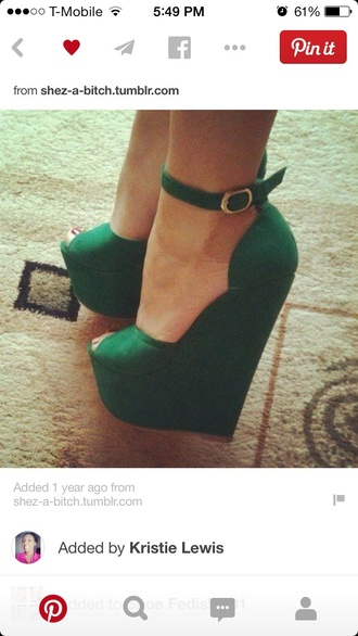 shoes emerald green wedges
