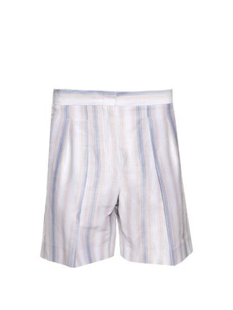 MAX MARA STUDIO Shock shorts in beige / print / beige