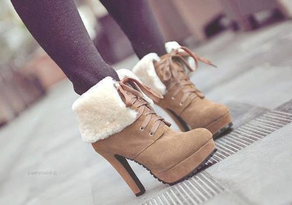 platform lace up boots suede boots fall boots winter boots shearling lace-up shoes