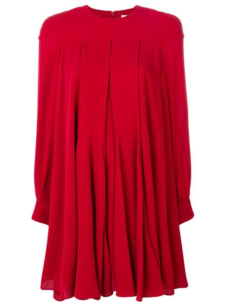 dress women baby spandex silk red