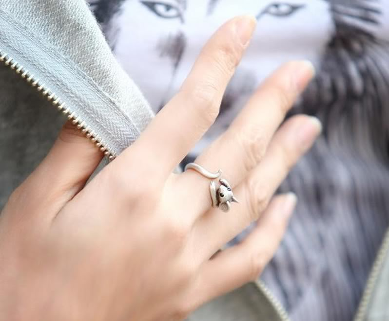 Personality Cute Retro Vintage Alloy Lovely Mouse Bronze / Silver Finger Ring   eBay