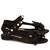Nero Black Embellished Flat Sandals