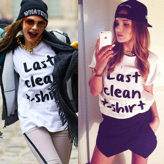 t-shirt last clean t-shirt letter tee white t-shirt xxl t-shirt