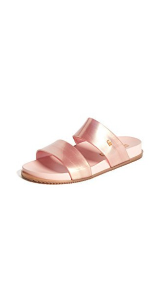 Melissa sandals metallic pink shoes
