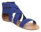 Womens office herman elastic blue elastic sandals