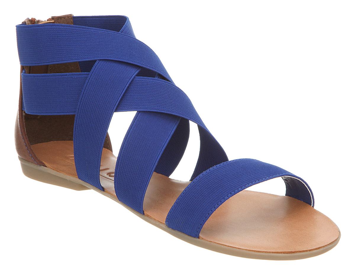 Womens Office Herman Elastic Blue Elastic Sandals | eBay