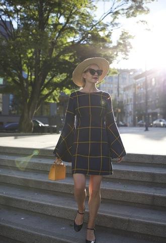 atlantic pacific blogger dress coat top shoes bag sunglasses hat