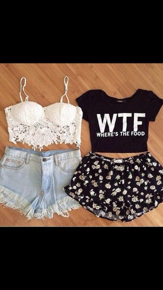 floral shorts lace busier classic shorts wtf
