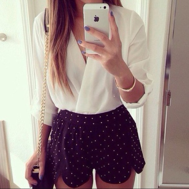 shorts blouse shirt