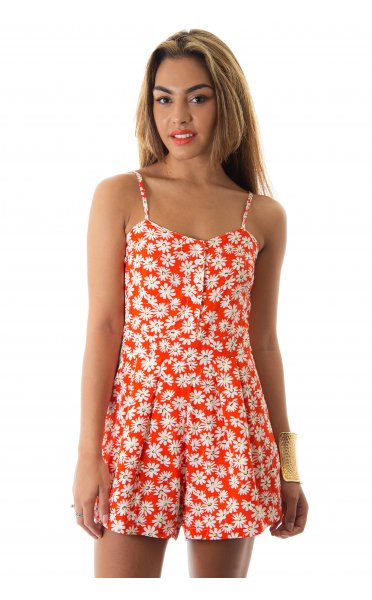 72e54a13a1 Daisy Crazy Orange Playsuit - from The Fashion Bible UK