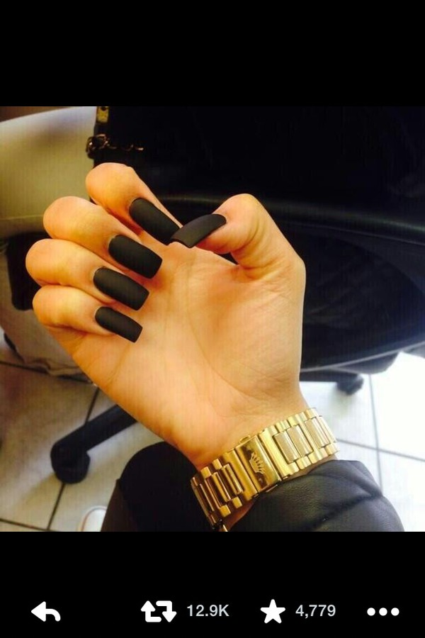 nail polish matte black nail polish